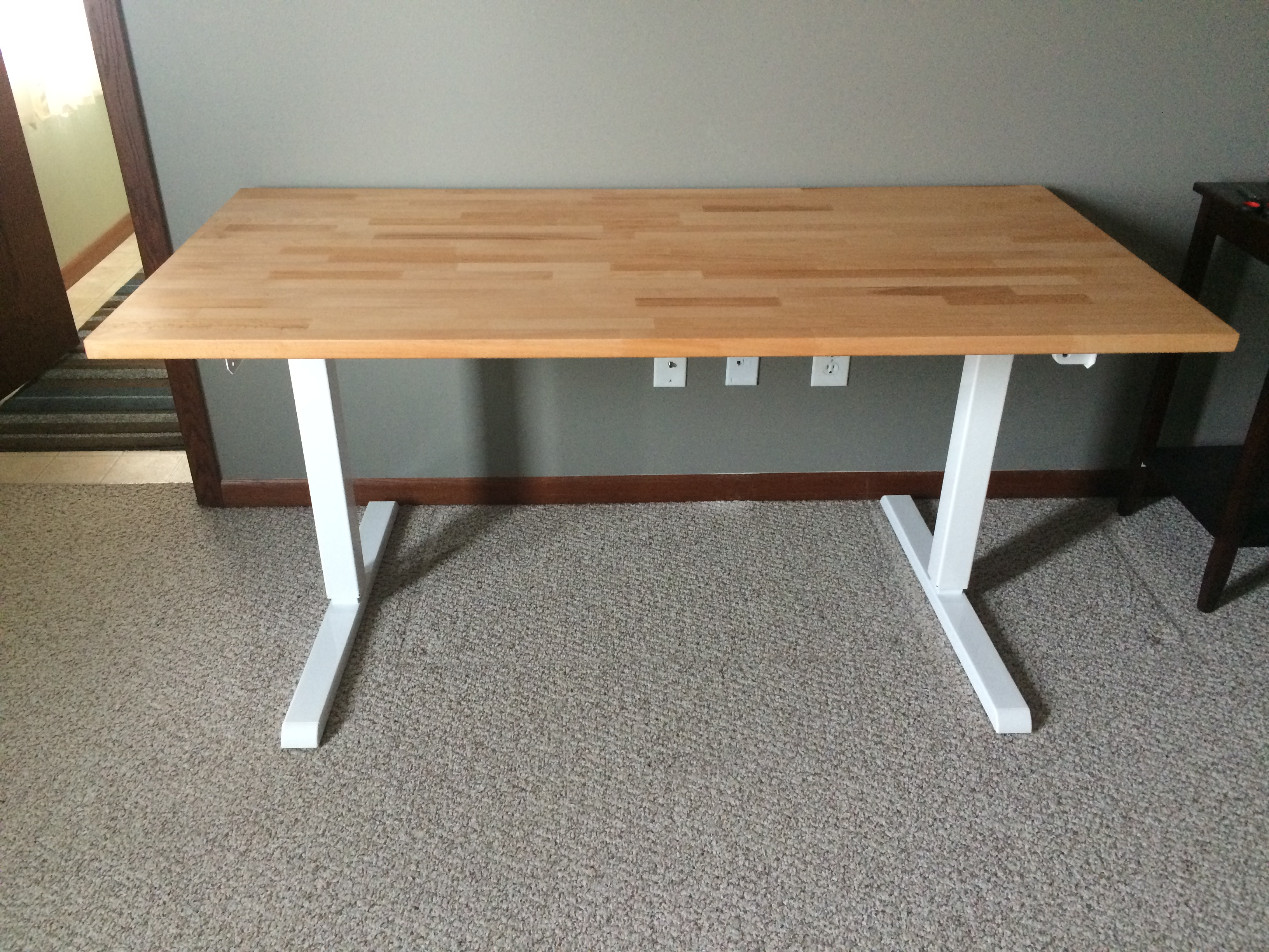 ikea id tops desk hack standing